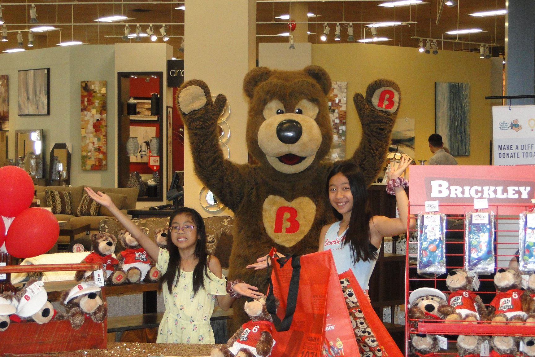 Brickley Bear and Gianna Wave